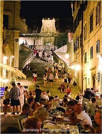 Dinner in Dubrovnik by Jeff Moore