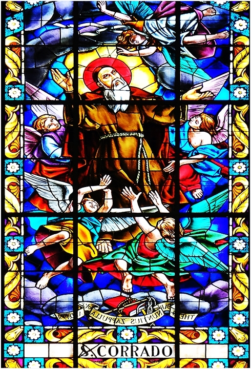 Stain Glass Detail, Kimpton Church by Jeff Moore