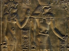 Isis and Horus Philae Temple Aswan by Dave Rippon