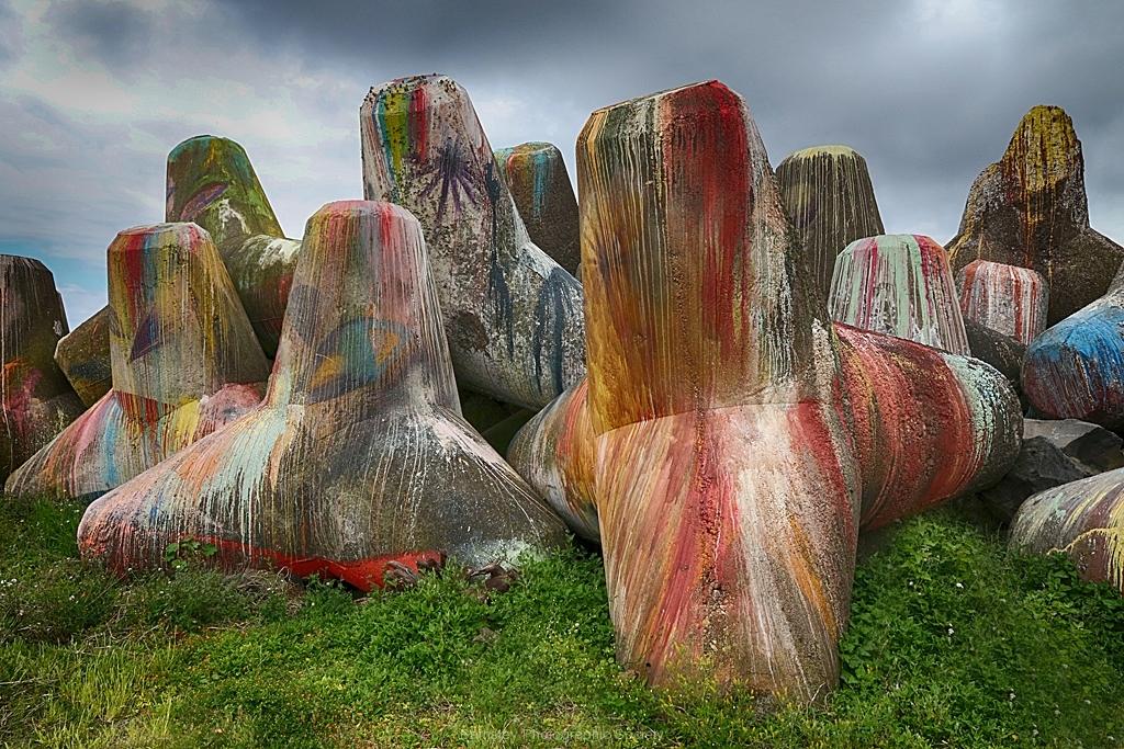 Painted Breakwaters by Willem Van Herp