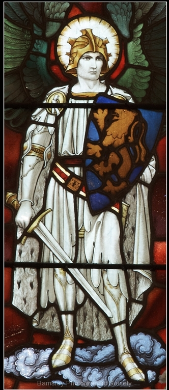 Detail of Stain Glass Brodsworth Church by Phil Holmes