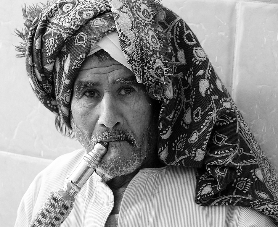 Egyptian Water Pipe Smoker by Willem Van Herp