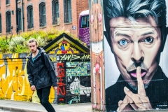 Bowie Mural appears on the 1st anniversary of his death by Glynn Rhodes