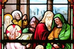 STAIN GLASS WINDOW - DETAIL - ST MATTIAS -BUDAPEST