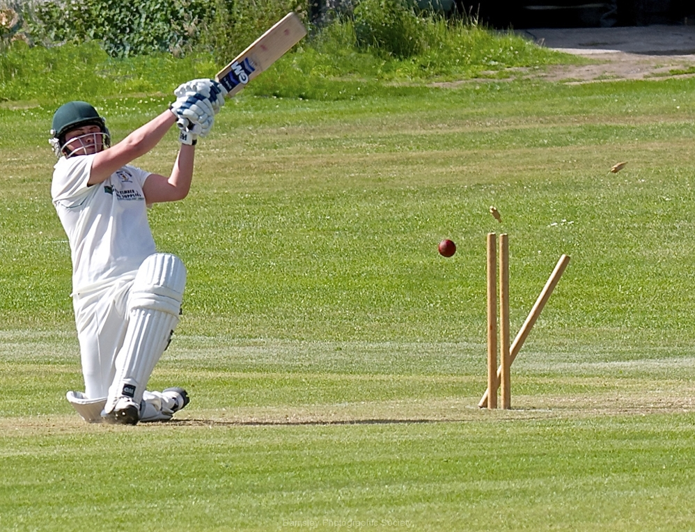 Bowled  by Harry watson