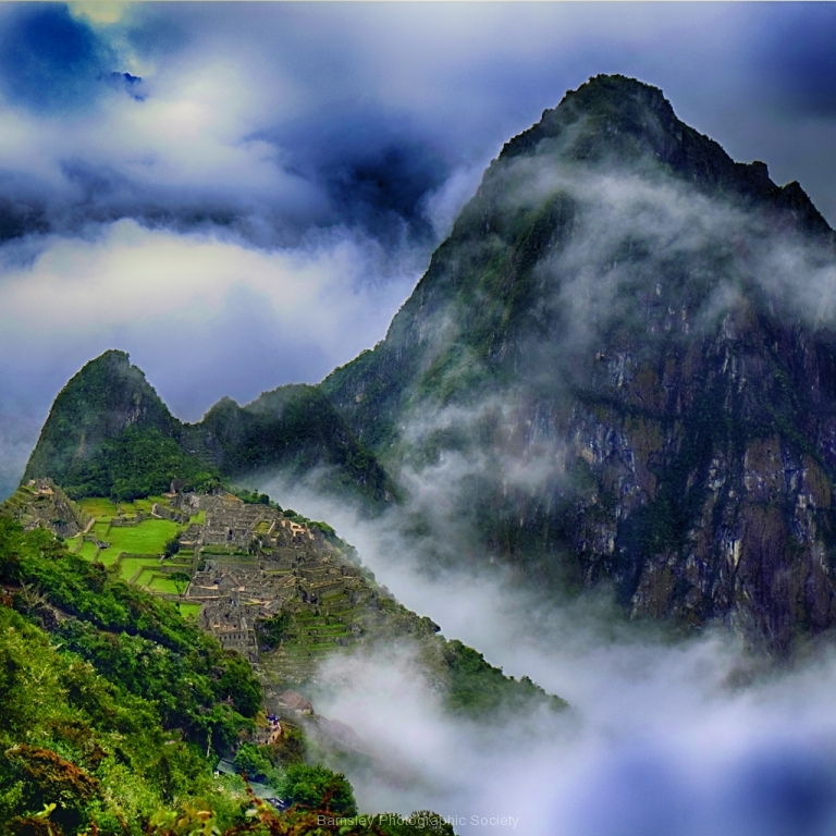 First View of Machu Picchu from the Inca Trail by Jeff Moore