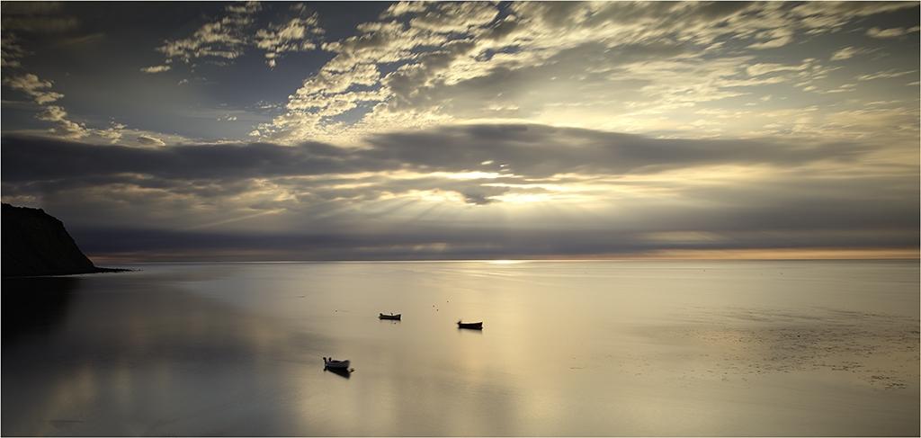 Daybreak Robin Hoods Bay by Jeff Moore