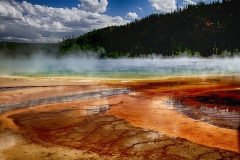 Yellowstone Grand Prismatic Spring by Willem Van Herp