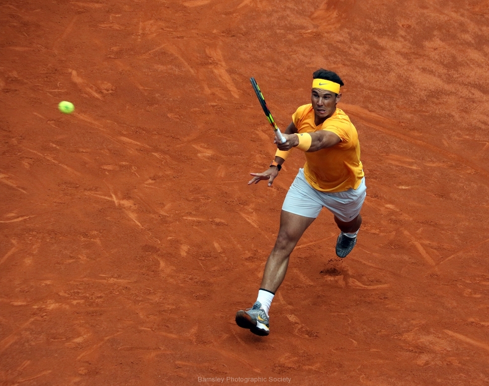 Return Shot Nadal by Willem Van Herp