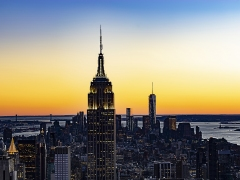 New York Sunset by Dave Rippon