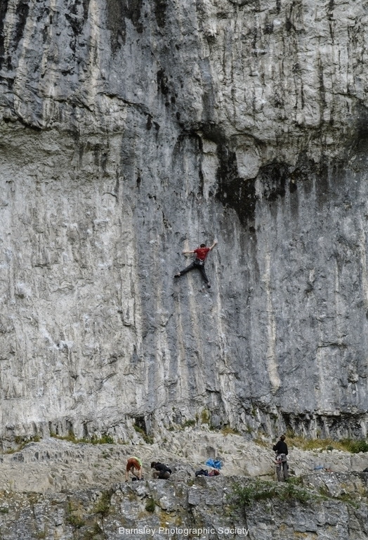 CLIMBERS AT MALHAM COVE by Phil Edwards