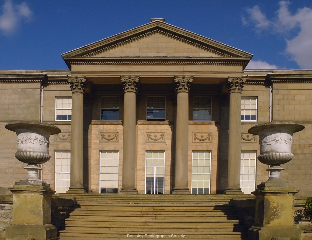 TATTON PARK FRONT PORTICO-Sby Phil Edwards