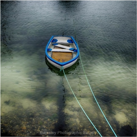 Boat in Harbour by Jeff Moore