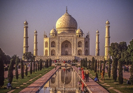 Sunset on the Taj Mahal by Bob Harper