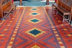 FLOOR TILES IN A CHURCH by Roy Lloyd