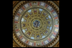 Detail of Dome Ceiling St Stephen Basilica